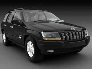 3d model jeep grand cherokee