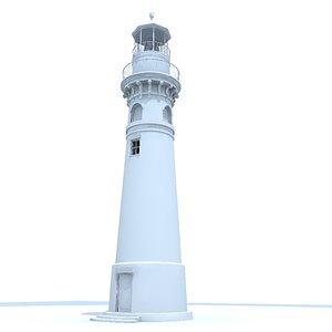3d model of light tower