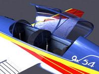 3d yak-54 aerobatic aircraft model
