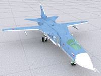 sukhoi airraft 3d model