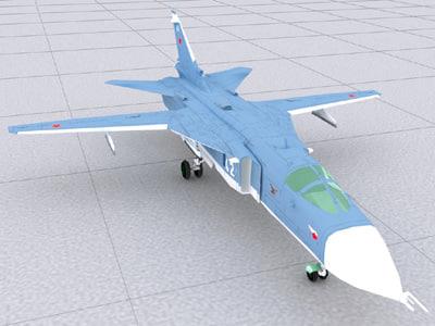sukhoi airraft 3d model