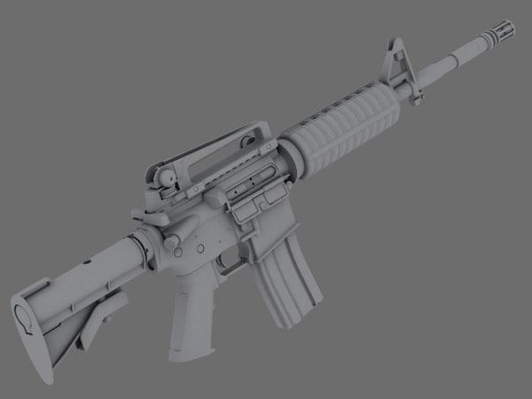 free m4a1 carbine 3d model