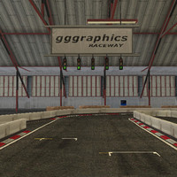 3d model indoor racing circuit track