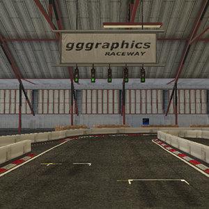 3d model indoor racing circuit track