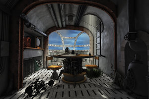 maya hi-res scene interior