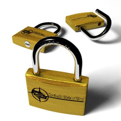 lock padlock 3d model