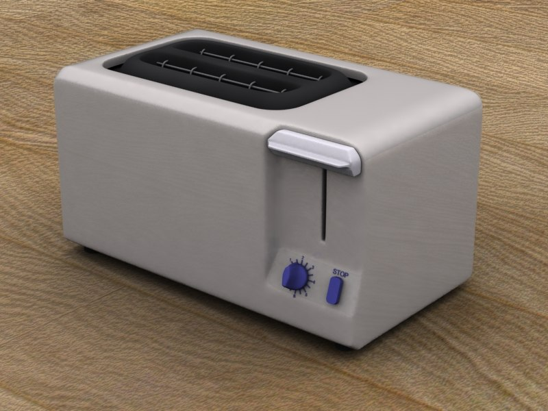 toaster kitchen 3d model