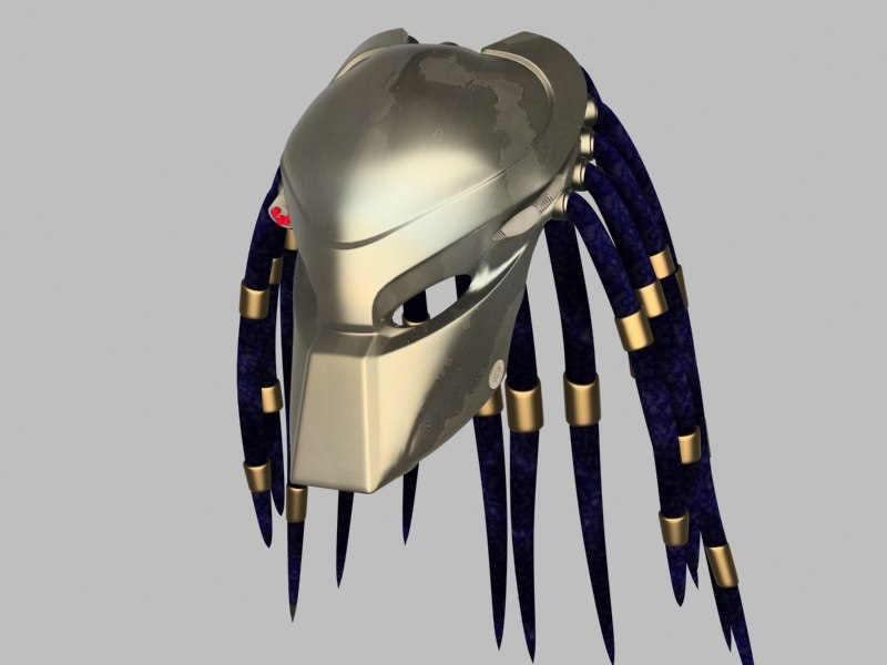 predator helmet 3d model