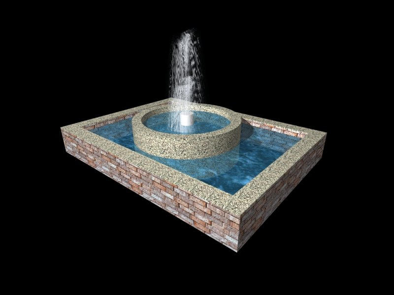 fountain exterior water 3d model