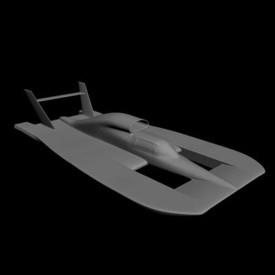 3d model hydroplane