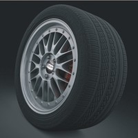 Wheel BBS LM Pirelli tire