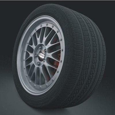 3d wheel bbs lm model