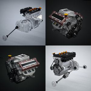 generic engine 3d model