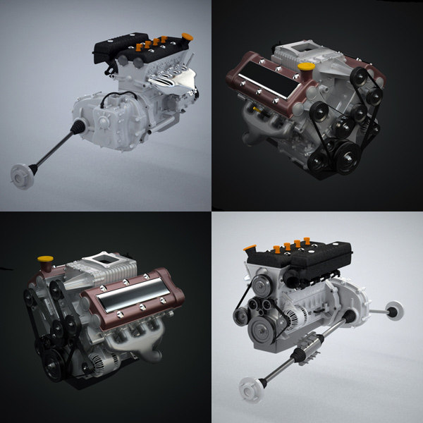 generic engine 3d model