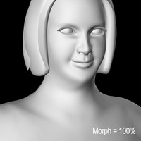 female overweight 3d model