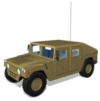 m966 hmmwv 3d model