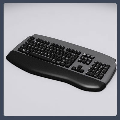 3d model wireless computer keyboard