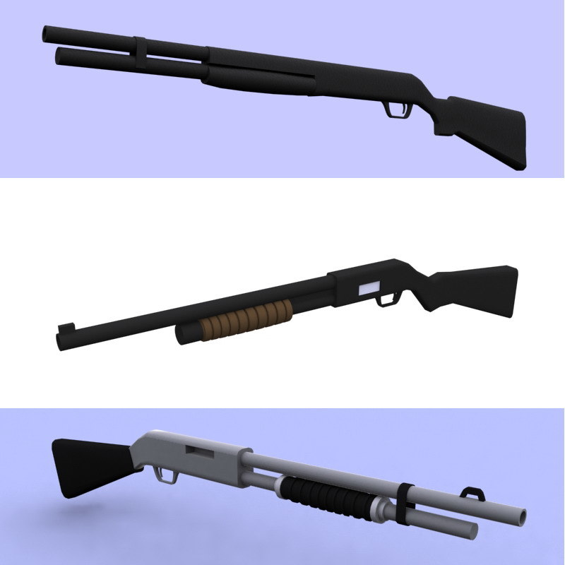 3ds max guns shotgun