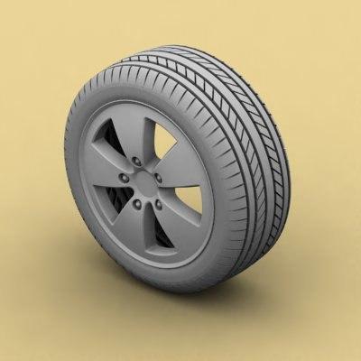 tire rim car 3d max