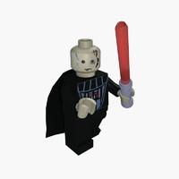 free lego human 3d model