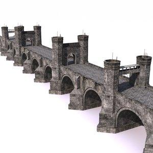 3d medieval bridge model