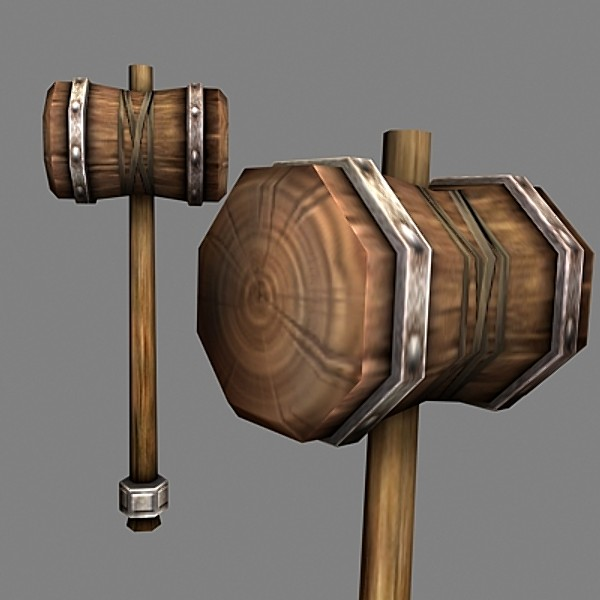 3d hammer realtime model