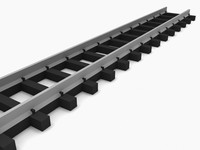 n-gauge straight track 3d model