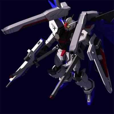 zgmf-x10a freedom gundam seed 3d model