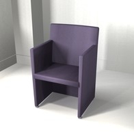 suede upholstered 3d max