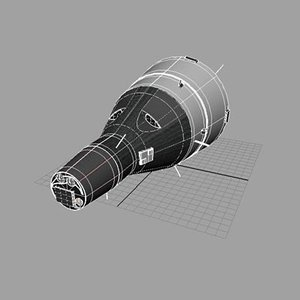 gemini space craft 3d model