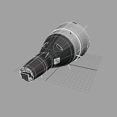 gemini space craft 3d model