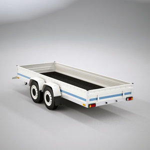 3ds max small trailer wheel