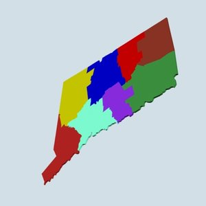 state counties 3d model