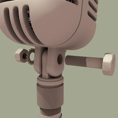 3d radio microphone mic