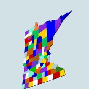 state counties 3d max