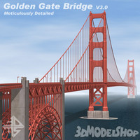 3d model golden gate bridge v3