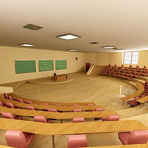 3d interior auditorium model