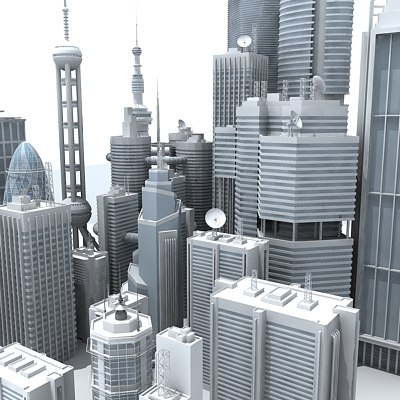 3ds skyscrapers cities