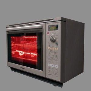 kitchen microwave 3d max