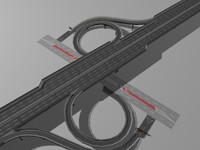 highway street interchange 3d model