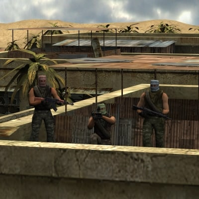 3d arab town terrorist model