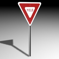 3d yield sign model