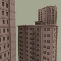 vintage buildings packs 3d model