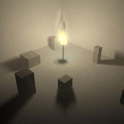 particleflow torch 3d model
