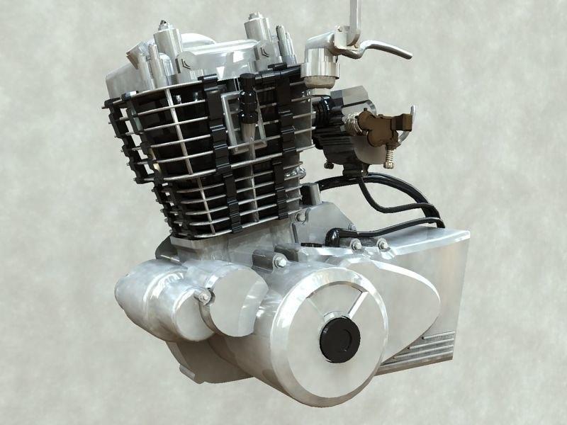 3d bike engine model