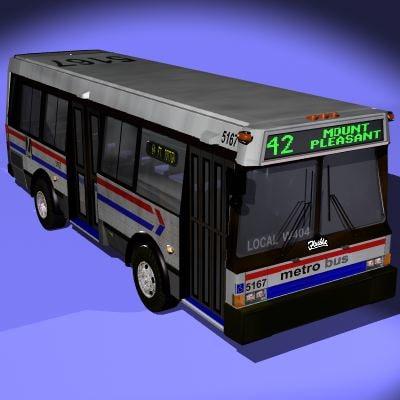 3d public bus