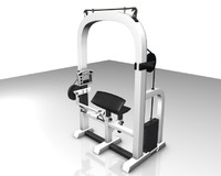 3d model of arm press