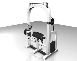 3d model of arm press