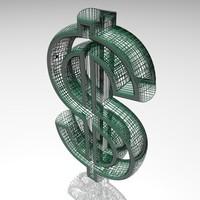 3d model dollar