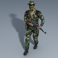 ranger soldier trooper 3d ma
